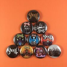 "Ghost Band 1"" PIN BUTTON lot Ghost B.C. Metal Ghost BC Dark Metal Rock"