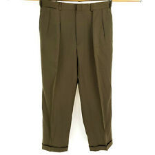 Polo Ralph Lauren Heavy Gabardine Wool 34x30 Dress Pants Relaxed Loose Olive