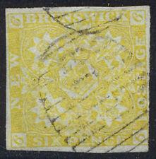 NEW BRUNSWICK #2 SCARCE Used - 1851 6p Olive Yellow