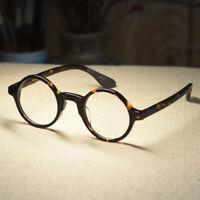 Retro round Johnny Depp eyeglasses mens acetate tortoise glasses RX lens eyewear