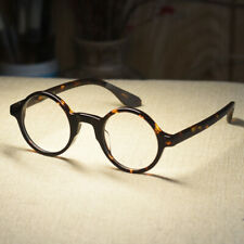 Retro round Johnny Depp eyeglasses mens acetate tortoise glasses RX lens eyewear