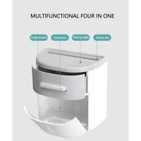 Toilettenpapierhalter Klopapierhalter WC Papierhalter mit Ablage ohne Bohren
