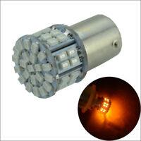 2 x AMBER 1156BA15S LED 50 SMD Turn Backup Reverse Light Bulb Globe Lamp DC 12v