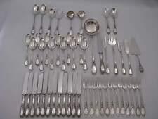 Umfangreiches Silberbesteck Rokoko 12 Pers. + 15 Vorleger 4.6 kg Echtsilber 800