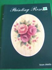 New ListingPainting Roses Susan Abdella 1998 Realistic Flowers Decorative Tole Paint Book