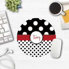 black and red geometric mouse pad personalized custom monogrammed mousepad cheap