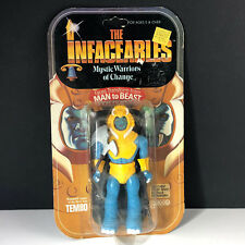 1984 GALOOB INFACEABLES VINTAGE ACTION FIGURE MOC WARRIORS CHANGE TEMBO MAMMOTH