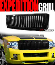 FOR 2007-2014 FORD EXPEDITION BLACK VERTICAL FRONT BUMPER GRILL GRILLE GUARD KIT