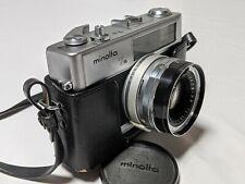 Vinrage MINOLTA HI MATIC 7s CAMERA JAPAN ROKKOR-PF 1:1.8 45mm With Case - NICE!