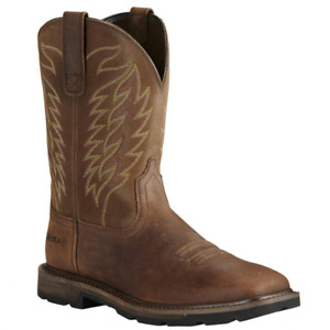 Ariat Men's Groundbreaker Square Soft-Toe Western Boots Size 11D 11 - 10020059