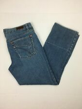Calvin Klein Sz 4 L25 Capri Cropped Low Rise Factory Fade Distressed Med Wash-94