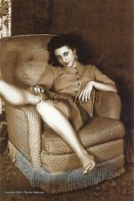 1940s-60s Sepia (4 x 6) Repro Risque Pinup Photo- Stunning Vixen- Skirt- Sweater
