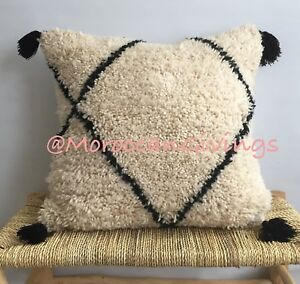 Vintage Moroccan Beni Ourain Pillow Wool /Cushion Cover | Pillow Cover |