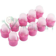 Kit 10 Capsule rimozione smalto gel ampolline vaschetta solvente unghia unghie