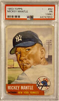 1953 Topps #82 Mickey Mantle PSA 1 PR New York Yankees HOF