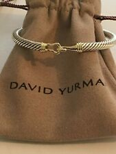David Yurman 5mm  Cable Buckle Bracelet 14K Gold Buckle  Medium