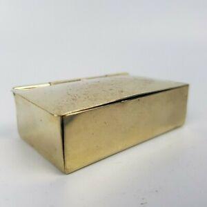 SCATOLA PORTAGIOIE ANTICA BOX con molla PORTA PASTICCHE old sheffield plate EPNS