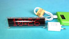 LED Matrix Uhr mit automatischer Zeitsynchronisation