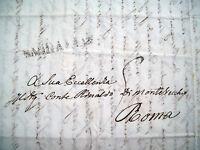 1847 LETTERA DA MONTE PORZIO AL CONTE RINALDO DI MONTEVECCHIO A ROMA