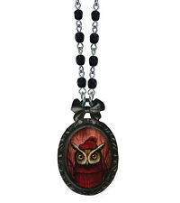 Classic Hardware KELLY VIVANCO Necklace SERIOUS KNITS New! Nice! OWL!