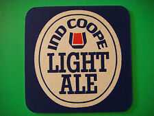 Beer Drink COASTER ~ IND COOPE Brewery Light Ale ~ Essex, ENGLAND <> Since 1845