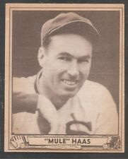 "1940 Play Ball high #184 George ""Mule"" Haas W Sox Ex++!"