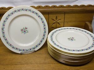 """12 Lenox Dinner Plates - 10 1/2"""" - Bellefonte"""