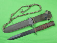 US WW2 WWII CASE M3 Unissued Fighting Knife & Scabbard