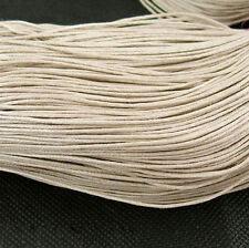 (0,16€/m) 10m,Gewachstes Baumwollband ,Schnur,Kordel, 1.5mm Antique Weiß