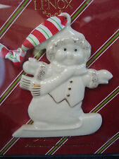Lenox Merrily Yours Snowman Ornament - Boy Nip Great Favors!