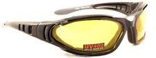 Amarillo Tintado ACOLCHADO UV400 Antiniebla MOTO Gafas/Gafas de sol 4 motero