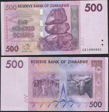 Zimbabwe RADAR 1990991 P 70 - 500 Dollars 2007 - UNC