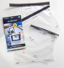 3 Aloksak 12x12 13.5x11.25 16x24 Waterproof Sandproof Airtight Pouch Bags LOKSAK