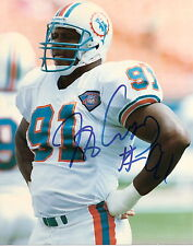 MIAMI DOLPHINS AUTOGRAPHED COLOR 8 X 10 JEFF CROSS ( 2 )!!!
