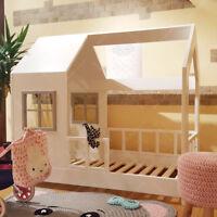 Lit cabane, Lit pour enfants,lit d'enfant,lit cabane avec barrière Nouveauté