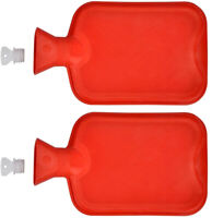 2x Wärmflasche Gummi 2 Liter | Wärmeflasche | Wärmekissen | Bettflasche