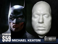 MICHAEL KEATON  BATMAN BEETLEJUICE Life Cast Life Mask Lightweight White Resin