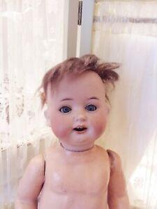 Antique Huebach Bisque Head Doll