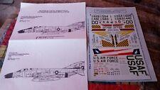 MICROSCALE 48-272 1/48 SCALE DECALS NOS F-4 PHANTOM ANG OHIO, TEXAS, MICHIGAN