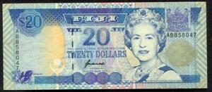 Fiji Queen Elizabeth II $20 BankNote