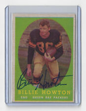 1958 PACKERS Billy Howton signed card Topps #6 AUTO Autographed Green Bay Bill