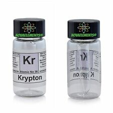Krypton gas element 36 Kr sample 99,9% mini ampoule in labeled glass vial