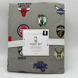 Pottery Barn PB Teen Gray NBA Eastern Conference XL Twin Sheet Set