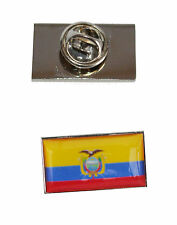 with free organza pouch Equador Flag Tie Pin