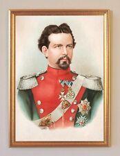 Ludwig II König von Bayern Portrait Leinen im Rahmen 13
