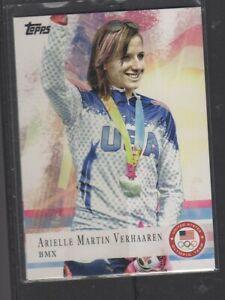 ARIELLE MARTIN VERHAAREN - 2012 OLYMPICS BMX - TOPPS #67