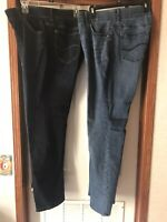 2 Pair Of Woman's LEE FLEX MOTION JEANS SIZE 18W LONG NEW! Dark Medium Wash
