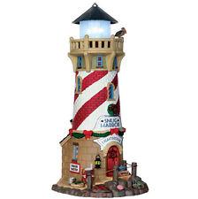 LEMAX Decoración Ceñido Harbour Faro, Navidad, porcelana iluminada modelo 4.5V