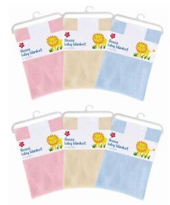 Baby Blanket Newborn Super Soft Fleece Blanket Shawl Pram Cot Crib Moses Basket