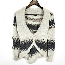 Peruvian Connection Womens Alpaca Cardigan Size S Shawl Collar Cream Soft Nordic